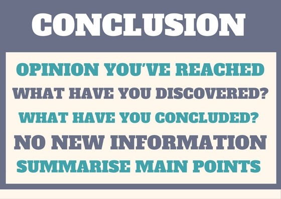 writing an essay new to southern cross university image showing conclusion opinion you ve reached what have you discovered what